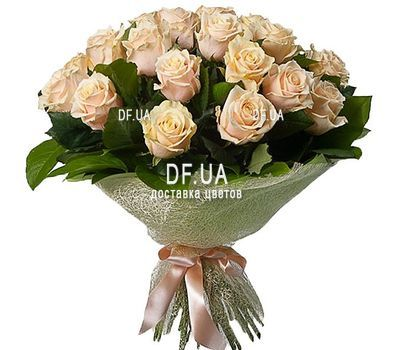 """27 Cream Roses"" in the online flower shop df.ua"