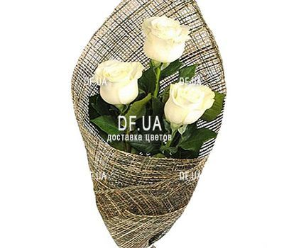 """3 white roses"" in the online flower shop df.ua"
