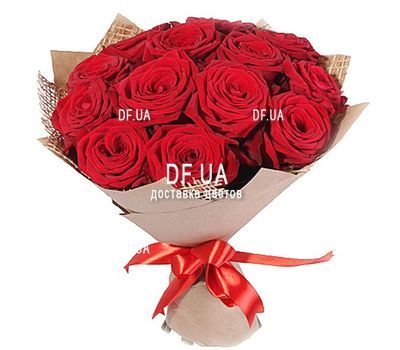 """17 red roses"" in the online flower shop df.ua"
