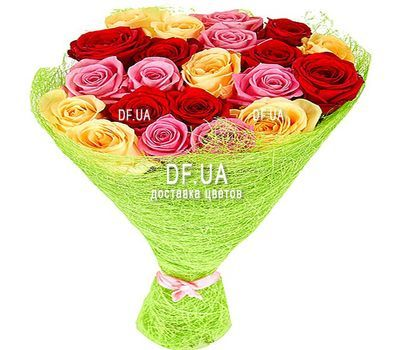 """21 multi-colored rose"" in the online flower shop df.ua"
