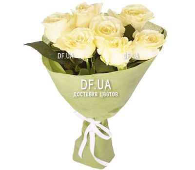 """7 white roses"" in the online flower shop df.ua"