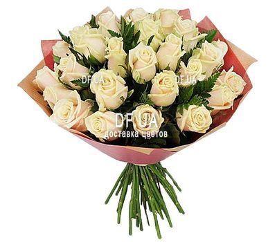 """35 Cream Roses"" in the online flower shop df.ua"