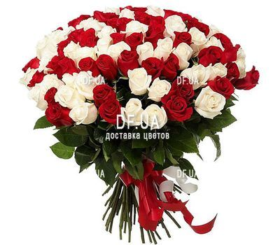 """Chic bouquet of roses"" in the online flower shop df.ua"