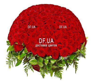 """""""Шикарный букет красных роз в корзине"""" в интернет-магазине цветов df.ua"""