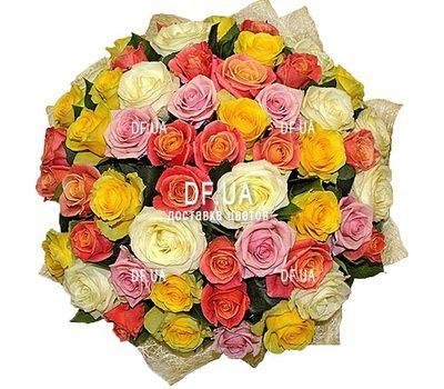 """Bouquet of 51 roses 60 cm - view 1"" in the online flower shop df.ua"