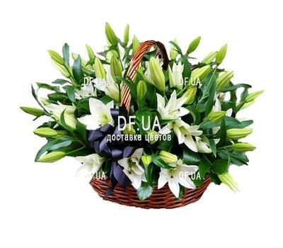 """White lilies in a basket"" in the online flower shop df.ua"