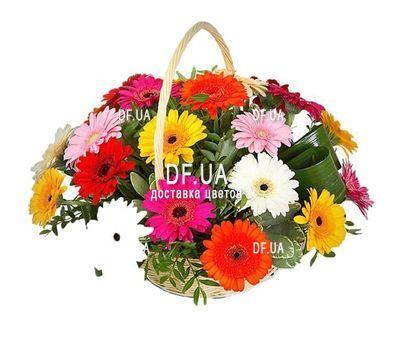 """Basket of 21 gerberas"" in the online flower shop df.ua"