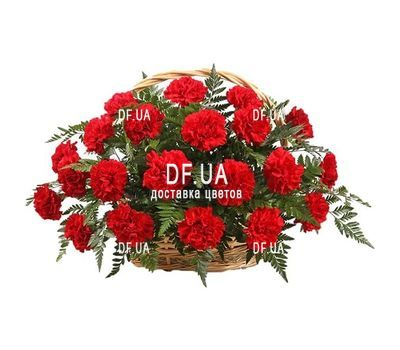 """""""Корзина из 25 красных гвоздик"""" в интернет-магазине цветов df.ua"""