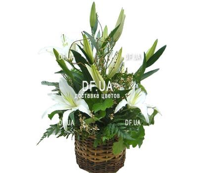 """Small basket with lilies"" in the online flower shop df.ua"