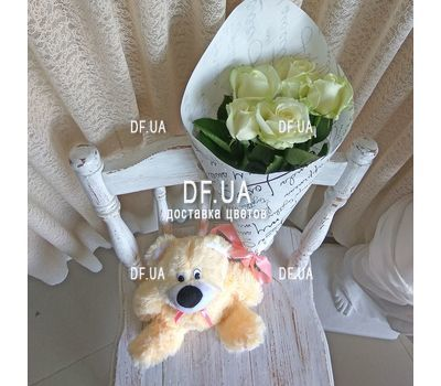"""5 white roses view 3"" in the online flower shop df.ua"