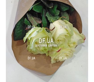 """5 white roses view 5"" in the online flower shop df.ua"