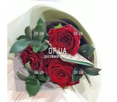 """Bouquet of 3 roses view 1"" in the online flower shop df.ua"