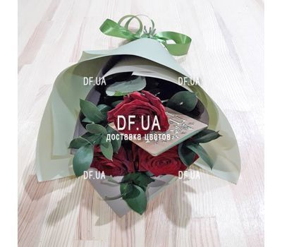 """Bouquet of 3 roses view 2"" in the online flower shop df.ua"