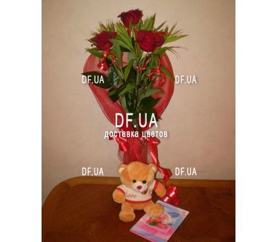 """Bouquet of 3 roses view 3"" in the online flower shop df.ua"