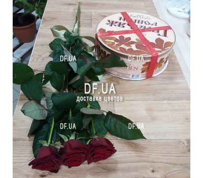 """Bouquet of 3 roses view 4"" in the online flower shop df.ua"