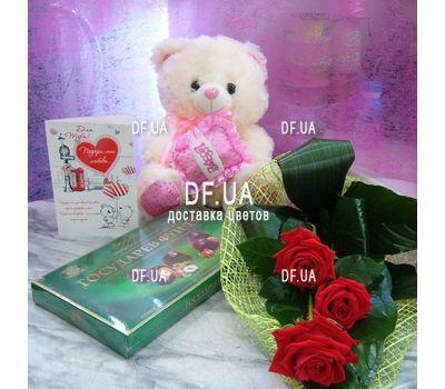 """""""Мини букет из 3 роз вид 1"""" в интернет-магазине цветов df.ua"""