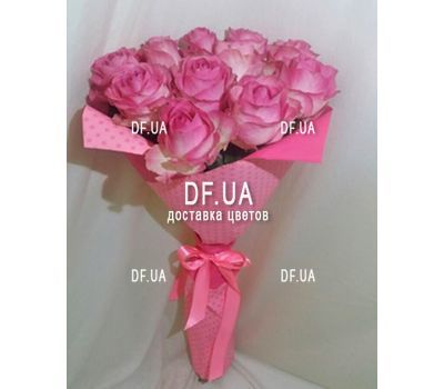 """11 pink roses - view 1"" in the online flower shop df.ua"