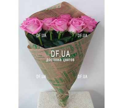 """11 pink roses - view 5"" in the online flower shop df.ua"
