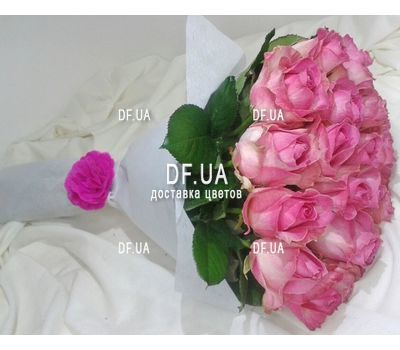 """19 pink roses - view 1"" in the online flower shop df.ua"