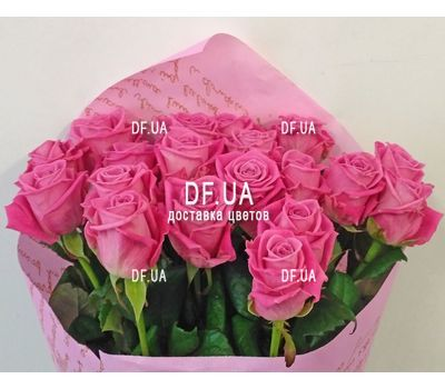 """19 pink roses - view 5"" in the online flower shop df.ua"