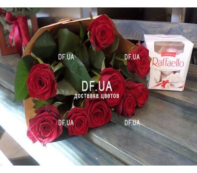 """9 red roses - view 3"" in the online flower shop df.ua"