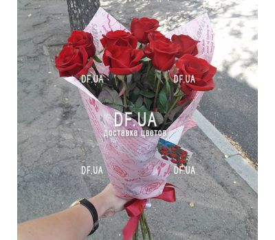 """9 red roses - view 7"" in the online flower shop df.ua"