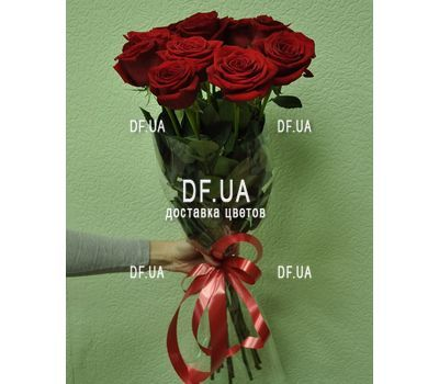 """Bouquet of 11 red roses - view 1"" in the online flower shop df.ua"