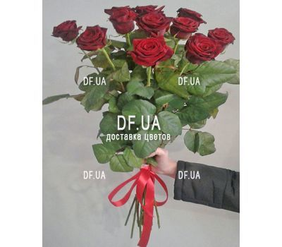 """Bouquet of 11 red roses - view 2"" in the online flower shop df.ua"
