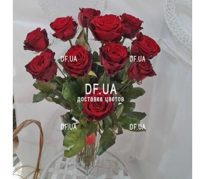 """Bouquet of 11 red roses - view 5"" in the online flower shop df.ua"