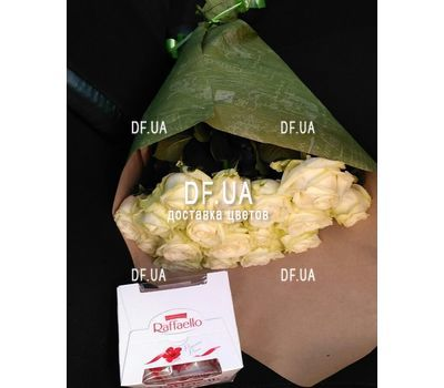 """""""19 white roses bouquet - view 4"""" in the online flower shop df.ua"""