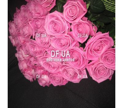 """Bouquet of 35 pink roses - view 1"" in the online flower shop df.ua"