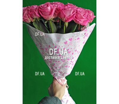 """Bouquet of 35 pink roses - view 2"" in the online flower shop df.ua"