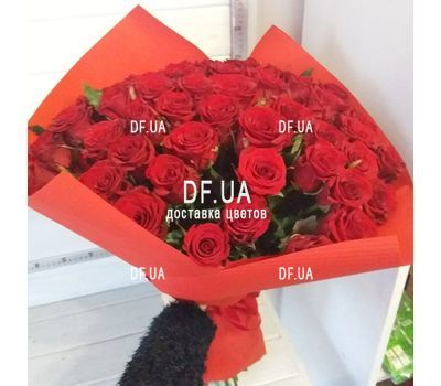 """Bouquet 51 red rose - view 1"" in the online flower shop df.ua"