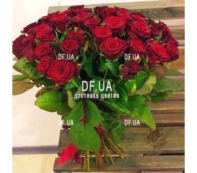 """Bouquet 51 red rose - view 2"" in the online flower shop df.ua"