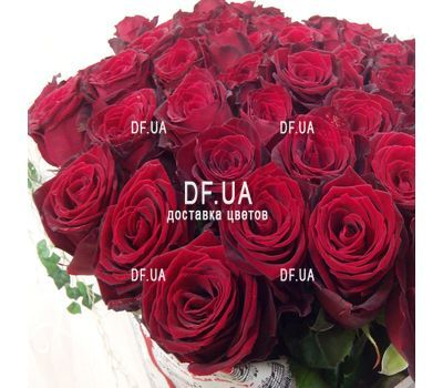 """A bouquet of 51 red roses - view 1"" in the online flower shop df.ua"