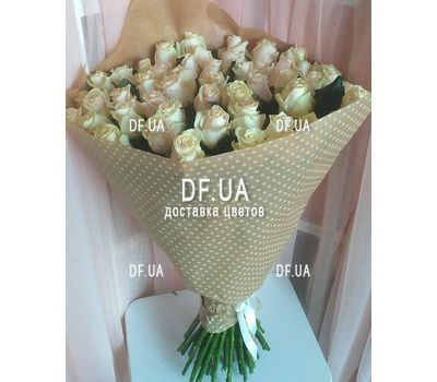 """""""Bouquet 51 cream-colored roses - view 1"""" in the online flower shop df.ua"""