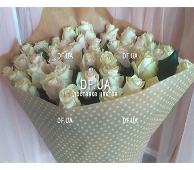 """""""Bouquet 51 cream-colored roses - view 2"""" in the online flower shop df.ua"""
