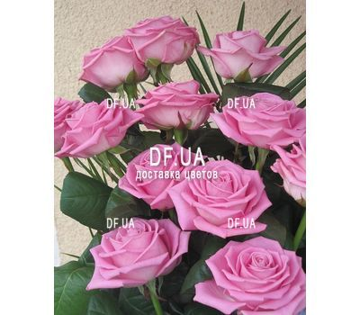 """Bouquet of 13 pink roses - view 1"" in the online flower shop df.ua"