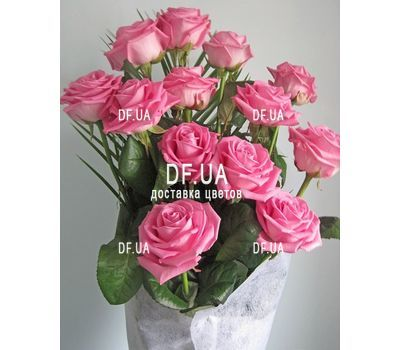 """Bouquet of 13 pink roses - view 3"" in the online flower shop df.ua"