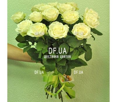"""""""Bouquet of 15 white roses - view 2"""" in the online flower shop df.ua"""
