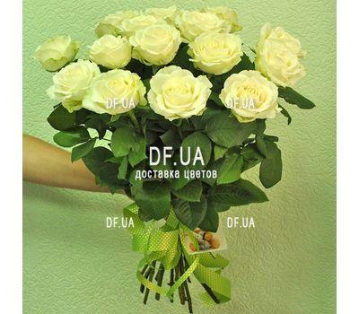 """""""Букет из 15 белых роз - вид 2"""" в интернет-магазине цветов df.ua"""