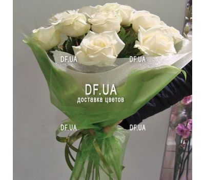 """Bouquet of 15 roses in craft - view 1"" in the online flower shop df.ua"
