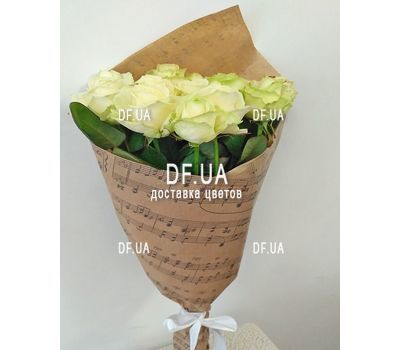 """Bouquet of 15 roses in craft - view 3"" in the online flower shop df.ua"