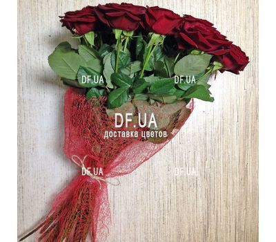"""""""Букет із 17 червоних троянд - вид 1"""" в интернет-магазине цветов df.ua"""