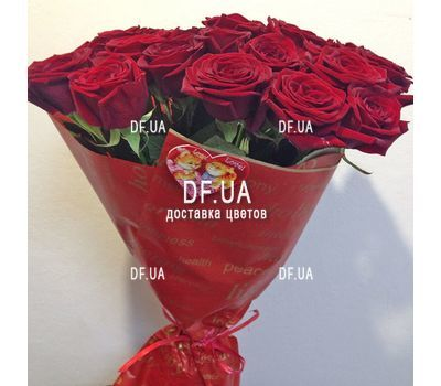 """Bouquet of 17 red roses - view 2"" in the online flower shop df.ua"