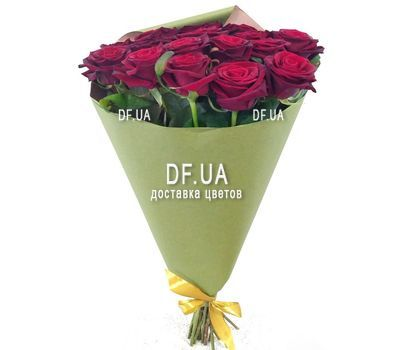 """Bouquet of 17 red roses - view 3"" in the online flower shop df.ua"