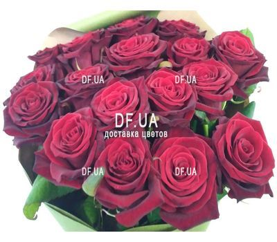 """Bouquet of 17 red roses - view 4"" in the online flower shop df.ua"