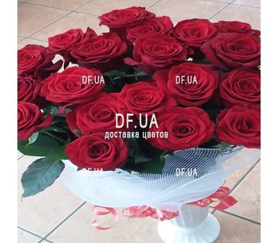 """Bouquet of 19 red roses - view 3"" in the online flower shop df.ua"