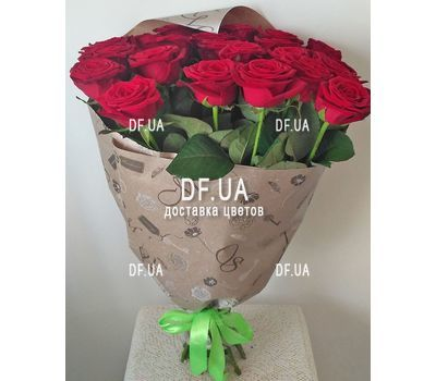 """Bouquet of 19 red roses - view 4"" in the online flower shop df.ua"