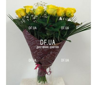 """Bouquet of 19 yellow roses - view 2"" in the online flower shop df.ua"